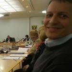Foto: Thomas Schwenk  ist nach der Haushaltsrede sichtlich erleichtet...