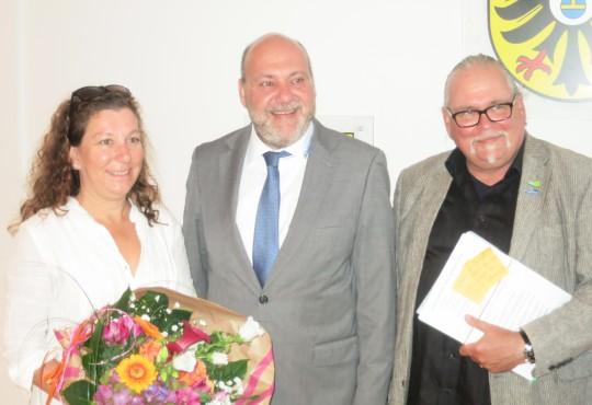 Thomas Schmitz (re.) rückt für Désirée Endler im Neckargemünder Gemeinderat nach
